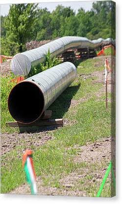 Replacing Canvas Print - Oil Pipeline Construction by Jim West