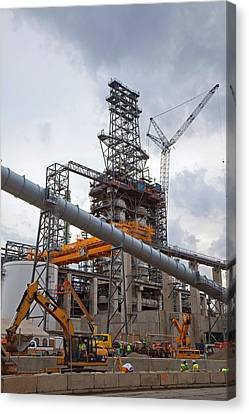 Oil Refinery Expansion Canvas Print