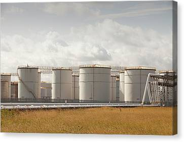 Terminal Canvas Print - Oil Storage Depot by Ashley Cooper