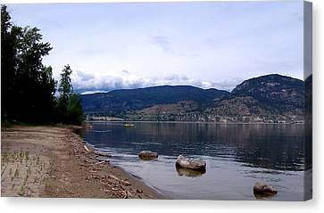 Canvas Print featuring the photograph Okanagan Lake - Kayaking by Guy Hoffman