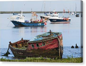 Old Boat Canvas Print by Svetlana Sewell