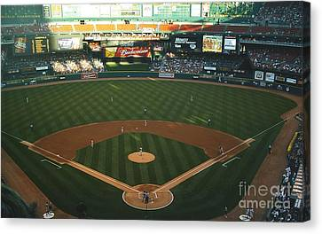 Canvas Print featuring the photograph Old Busch Field by Kelly Awad