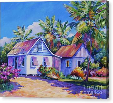 Old Cayman Cottages Canvas Print by John Clark