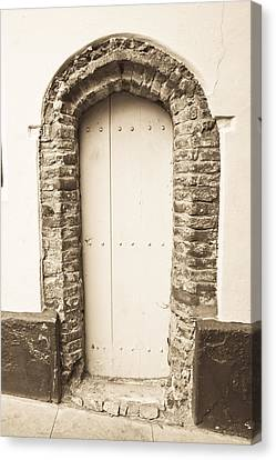 Medieval Entrance Canvas Print - Old Doorway by Tom Gowanlock