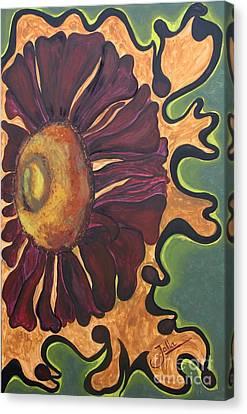 Old Fashion Flower Canvas Print by Jolanta Anna Karolska