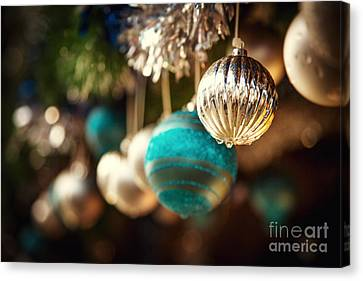 Merry -go- Round Canvas Print - Old Fashioned Christmas Decorations by Jane Rix