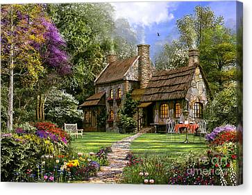 Old Flint Cottage Canvas Print