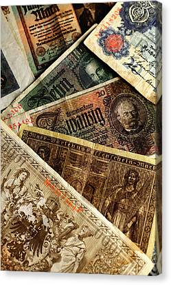 Old German Banknotes Canvas Print by Falko Follert