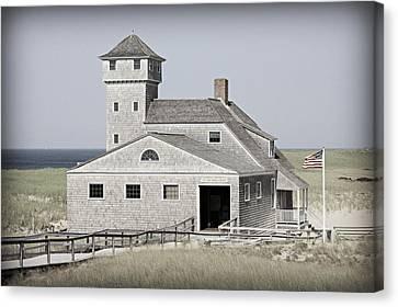 Nauset Beach Canvas Print - Old Harbor Lifesaving Station -- Cape Cod by Stephen Stookey