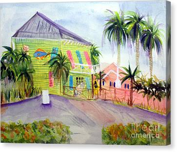 Old Key Lime House Canvas Print by Donna Walsh