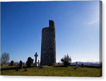Old Kilcullen Round Tower, County Canvas Print