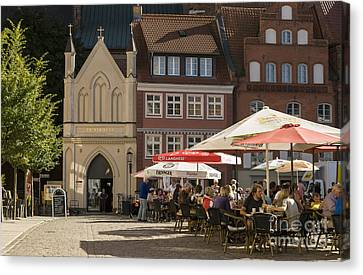 Old Market Square Stralsund Germany Canvas Print by David Davies