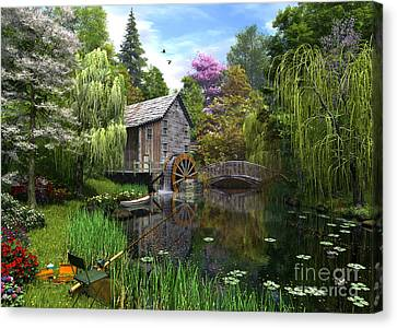 Old Mill Canvas Print by Dominic Davison