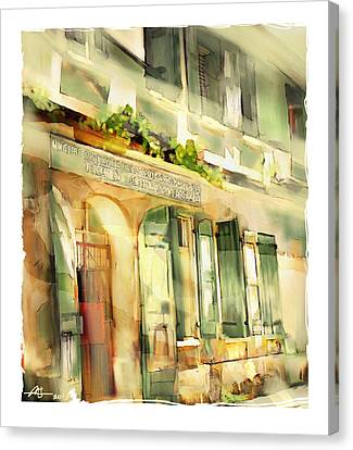 Old Ministry Of Transport Building / Haiti Canvas Print by Bob Salo