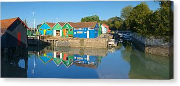 Old Oyster Farmers Shacks, Le Chateau Canvas Print by Panoramic Images