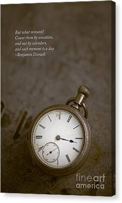 Old Pocket Watch Canvas Print by Edward Fielding