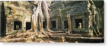 Old Ruins Of A Building, Angkor Wat Canvas Print