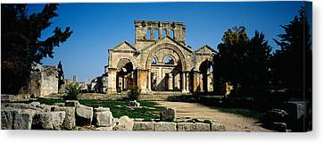 Old Ruins Of A Church, St. Simeon The Canvas Print by Panoramic Images