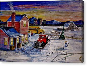 Old School Days. Canvas Print by Larry E Lamb