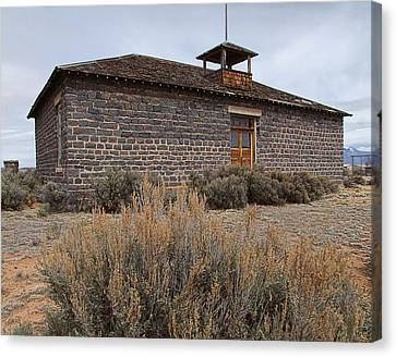 Old School House Canvas Print by Ron Roberts