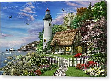 Old Sea Cottage Canvas Print by Dominic Davison
