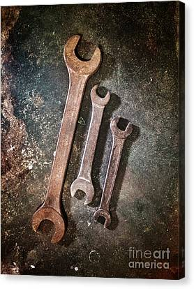 Ironwork Canvas Print - Old Spanners by Carlos Caetano