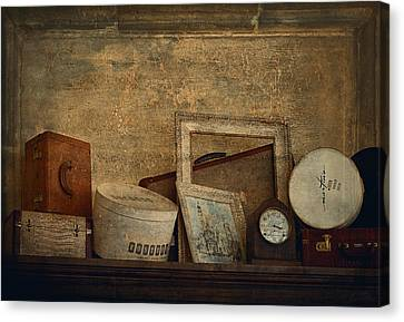 Interior Still Life Canvas Print - Old Things  by Maria Angelica Maira