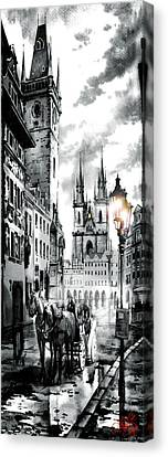 Old Town Square Canvas Print by Dmitry Koptevskiy