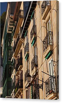 Country Buildings Canvas Print - Old Town Waterfront Buildings, San by Panoramic Images