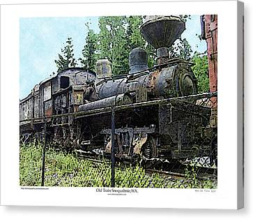Canvas Print featuring the photograph Old Train  by Kenneth De Tore