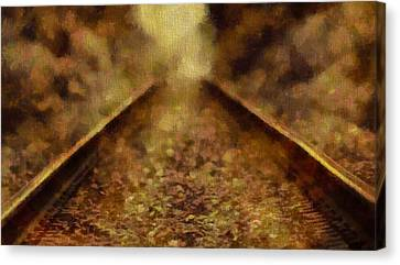 Old Train Tracks Canvas Print by Dan Sproul
