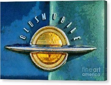 1951 Oldsmobile 98 Deluxe Holiday Sedan Canvas Print