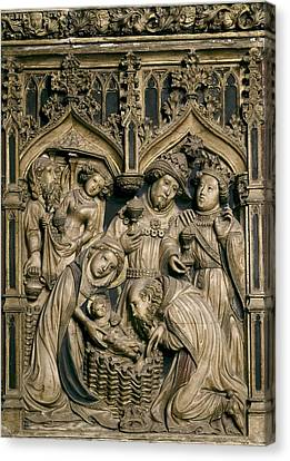 Betrothed Canvas Print - Oller, Pere 15th Century. Altarpiece by Everett