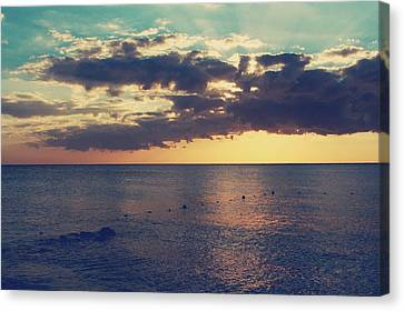 On A Warm Evening Canvas Print by Laurie Search