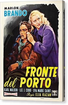 On The Waterfront Aka Fronte Del Porto Canvas Print by Everett