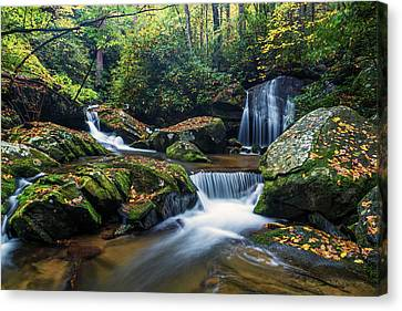 Fall Color Canvas Print - On The Way To Catawba Falls by Andres Leon