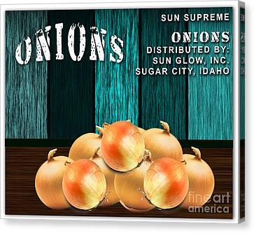 Onion Canvas Print - Onion Farm by Marvin Blaine