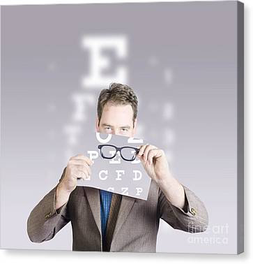 Optometrist Canvas Print - Optometrist Or Vision Doctor Holding Eye Glasses by Jorgo Photography - Wall Art Gallery