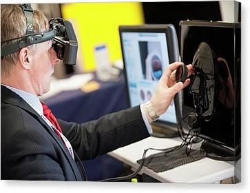 Optometrist Canvas Print - Optometry Virtual Reality Demonstration by Dan Dunkley