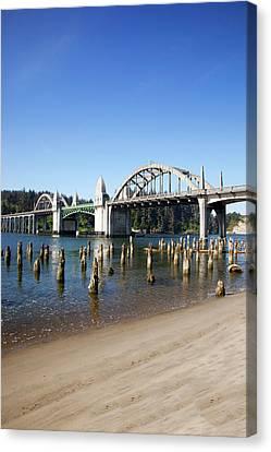 Or, Florence, Siuslaw River Bridge Canvas Print