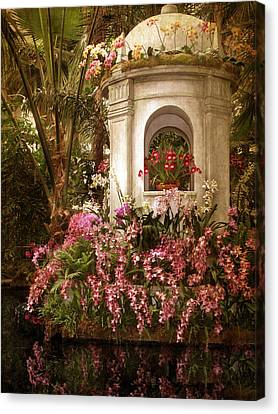 Orchid Garden Canvas Print by Jessica Jenney