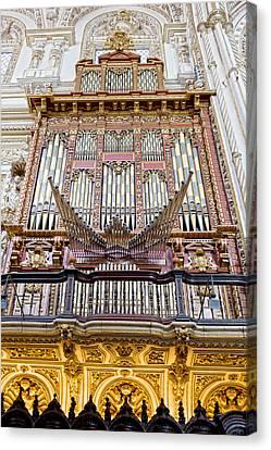 Organ In Cordoba Cathedral Canvas Print by Artur Bogacki