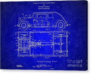 Original Harleigh Holmes Automobile Patent 1932 Canvas Print by Doc Braham