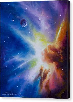 Origin Nebula Canvas Print by James Christopher Hill