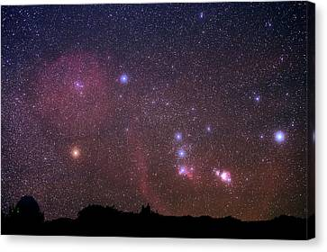 Orion Nebulae From The Canary Islands Canvas Print