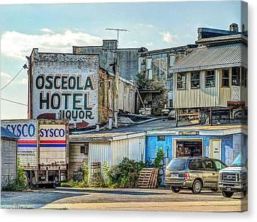 Osceola Hotel Canvas Print by MJ Olsen