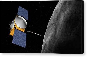 Osiris-rex Asteroid Mission Canvas Print by Nasa/goddard/university Of Arizona