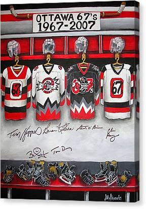 Ottawa 67's Coaches Canvas Print by Jill Alexander