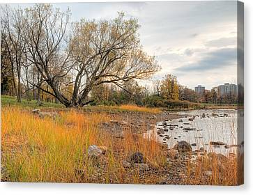 Ottawa Canvas Print - Ottawa River In The Fall. Champlain Bridge. Remic Rapids. by Rob Huntley