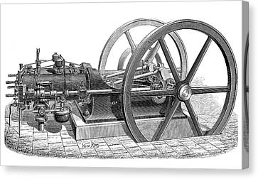 Otto Gas Engine Canvas Print by Science Photo Library